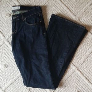 Abercrombie and Fitch dark stain jeans, size 4